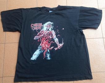 Cannibal Corpse vintage t shirts rare original tour concert rock death metal band size XL