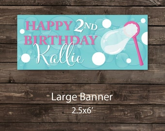 Birthday Party Banner, Party Banner, Bubbles Banner, Bubble Party Banner, Bubbles Party, Bubble Birthday Party Banner (vinyl)
