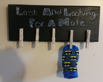 Chalkboard and clothes pin wall decor!