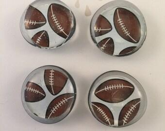 Football Magnets, Set of 4
