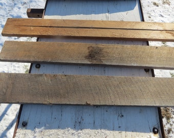 Lot of 3 Primitive Salvaged Reclaimed Rustic Rough Cut Boards