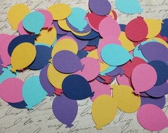 Brightly colored Balloons. Die Cut paper.    #H-67