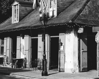 New Orleans Photography lafitte's blacksmith shop french quarter photography new orleans decor louisiana decor large wall art black white