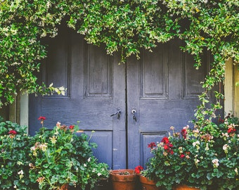 Rustic photography, farmhouse decor, rustic decor, slate blue, jasmine, country home, travel photography, fine art photography, large art