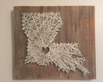 State Nail and String art, wall decor, state sign