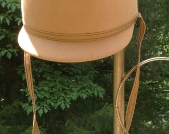 Henry Forlan Riding Hat, Golden Mustard, Supra-Felt ~ Vintage 1980s, Union Made