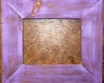"F002 3-1/2"" Violet Distressed Picture Frame"