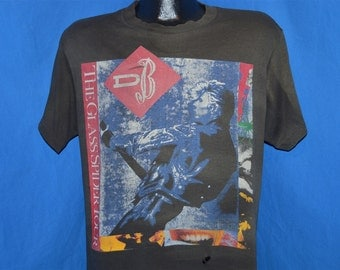 80s David Bowie Glass Spider Tour 1987 Distressed t-shirt Large