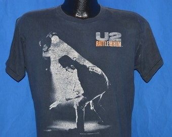 80s U2 Rattle and Hum Tour Black Vintage t-shirt Medium - Large
