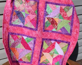 Beautiful Batik Baby Quilt - Item #1603