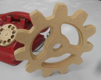 Large Wooden Gear Cog Sprocket, 6 inch, Steampunk Industrial Home Decor Wood Wooden Wall Decoration Americana By Bitterroot DSign