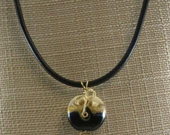 Focal Lampwork Bead Pendant Necklace