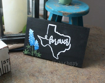 forever texas wooden sign