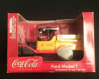 Coca Cola Model T die-cast metal bank with key