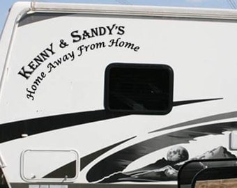 "RV Camper Family logo for Fifth wheel  23""x36""  Vinyl Decal for Trailer"