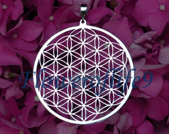 Flower of life pendant (1 3/4) Stainless Steel