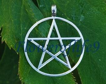 Pentagram pendant (1,1 inch) - Stainless Steel