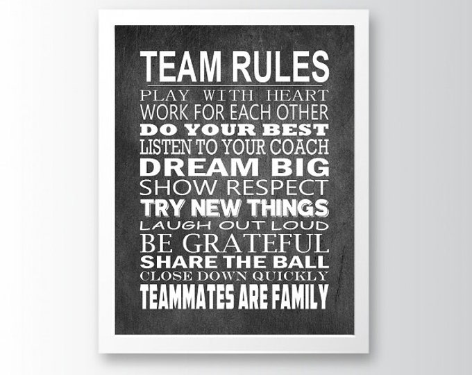 Team Rules - Special Edition Manifesto Poster Print