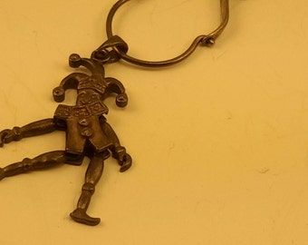 Whimsical Sterling Movable Jester Necklace.