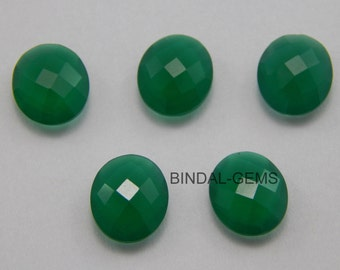 15 Pieces Wholesale Lot Green Onyx Oval Checker Briolettes Cut Gemstone For Jewelry