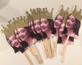 Photo cupcake toppers. crown themed