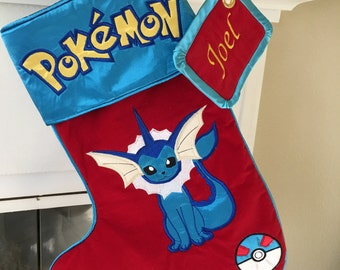 "Pokemon ""Vaporeon"" Christmas Stocking"