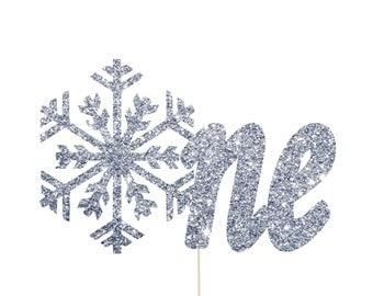 Winter Onederland Cake Topper, Winter Wonderland Decorations, Winter Onederland Party, Winter Onederland Decorations, Snowflake Cake Topper