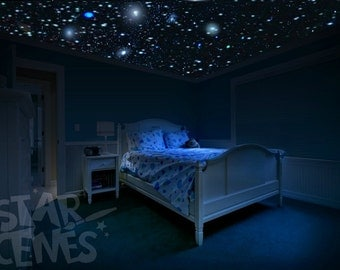 The most realistic glow stars in the world by starscenes for Outer space wallpaper for bedroom