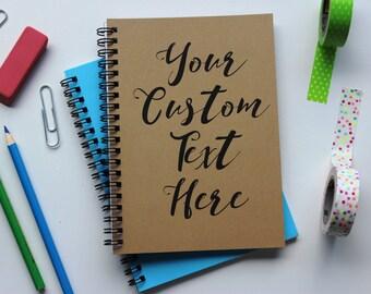 Custom Text Journal - 5 x 7 journal