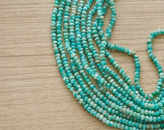 50 pcs of Faceted Amozonite Gemstone Beads