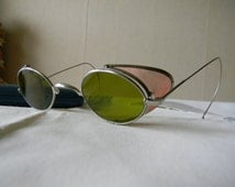 True Vintage Rare Steampunk Sunglasses vintage motor cylcle/aviators/vintage car 1900's.Made in England.
