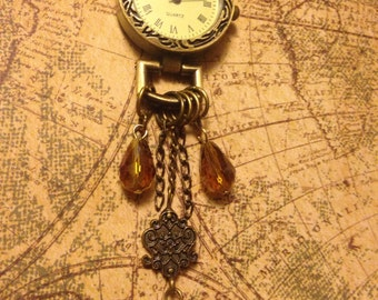 Marking Time Steampunk Watch Necklace