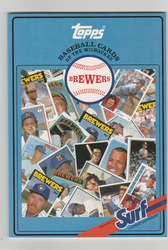 Milwaukee Brewers Bedroom In A Box Major League Baseball: Vintage MLB Milwaukee Brewers Topps Baseball Cards Surf Book