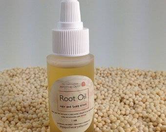 Natural Hair Care Sample, ROOT OIL, Dry Scalp Hair Oil Treatment, Travel Size 1oz