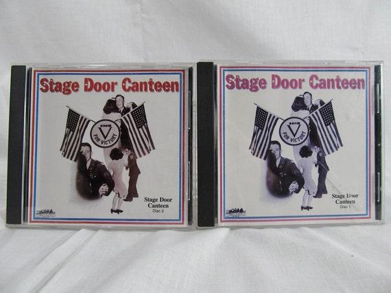 Stage Door Canteen Discs 1 & 2 1987 Music Discs Glenn Miller, Spike Jones, Tommy Dorsey, Vaughn Monroe, Frank Sinatra, Perry Como..