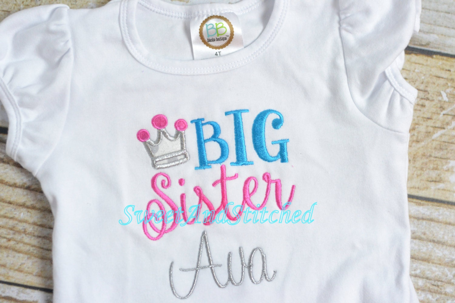 Princess Big Sister Shirt Personalized Big and little Sister