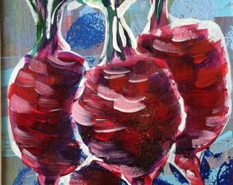 Beets original acrylic painting