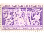10 Unused Lawyer Postage Stamps - Vintage 1953 American Bar Association Postage Stamps // Lawyer Postage for Mailing