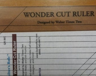 Wonder Cut Ruler Half Square Triangle Ruler Quilting Notion