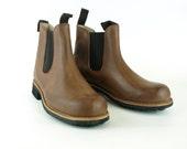 Leather boots Army Soles  Portuguese Traditional Retro Vintage Elastic Chelsea EU41  EU46