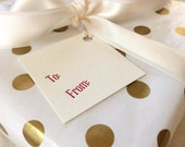 Letterpress Gift Tags - Set of 10 - To and From