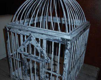 Distressed Metal Birdcage