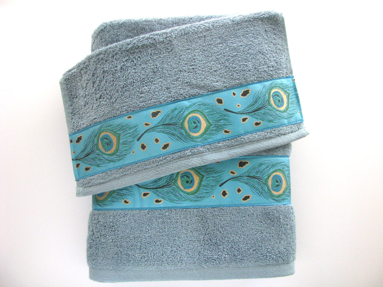 Peacock bathroom towels - Like This Item