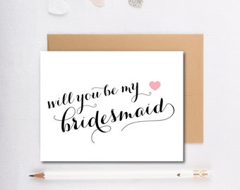 INSTANT DOWNLOAD - Will you be my bridesmaid?