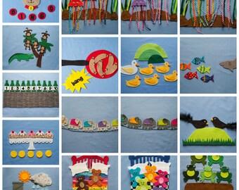 Felt Board Patterns, Felt Board Songs, Flannel Board Patterns, Felt Story Set, Flannel Board Templates, Felt Board Sets, Felt Stories, PDF