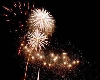 Firework Photograph - New York Fireworks - Abstract Art - Wall Decor - Fireworks Art - Cheerful Sky - New York Joyful Holiday - Night Sky