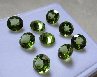 9mm NATURAL PERIDOT ROUND 9mm faceted vvvs1 quality always buy genuine peridot 9mm round faceted best deal peridot august birthstone
