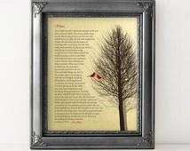 CHRISTMAS GIFT Idea for Mom Birthday Gift for Mom Gift Poem faux Gold Foil Art Print Custom Gift Cardinal from Son or Daughter or Children