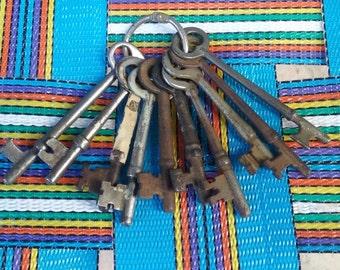 Skeleton keys vintage 10 keys