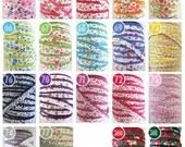 Floral Crochet Edge Double Fold Bias Tape
